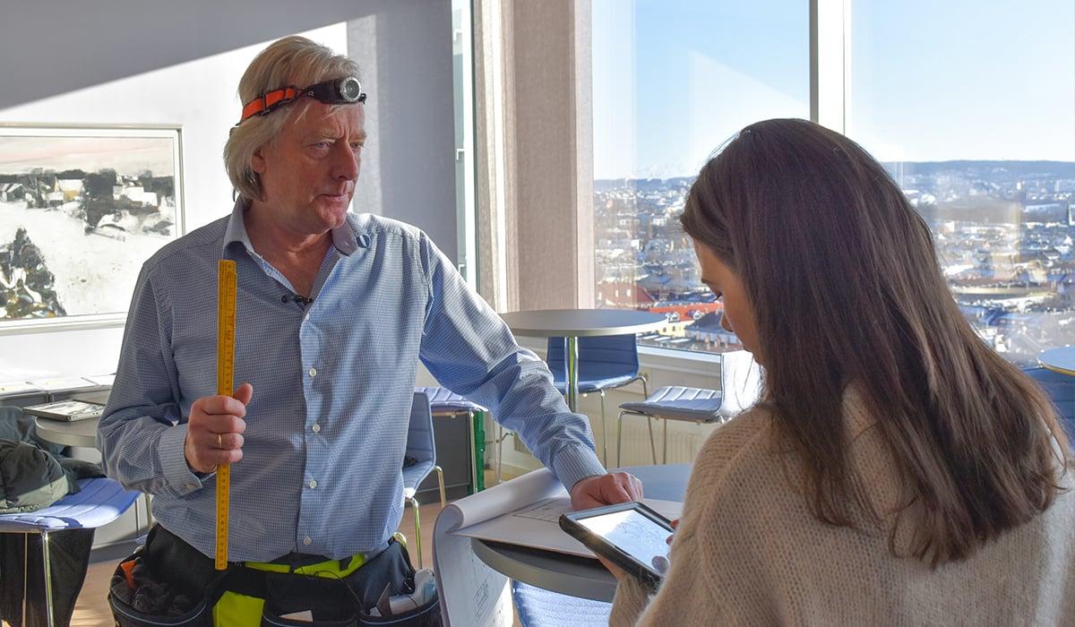Eirik og Trude kartlegger materialer